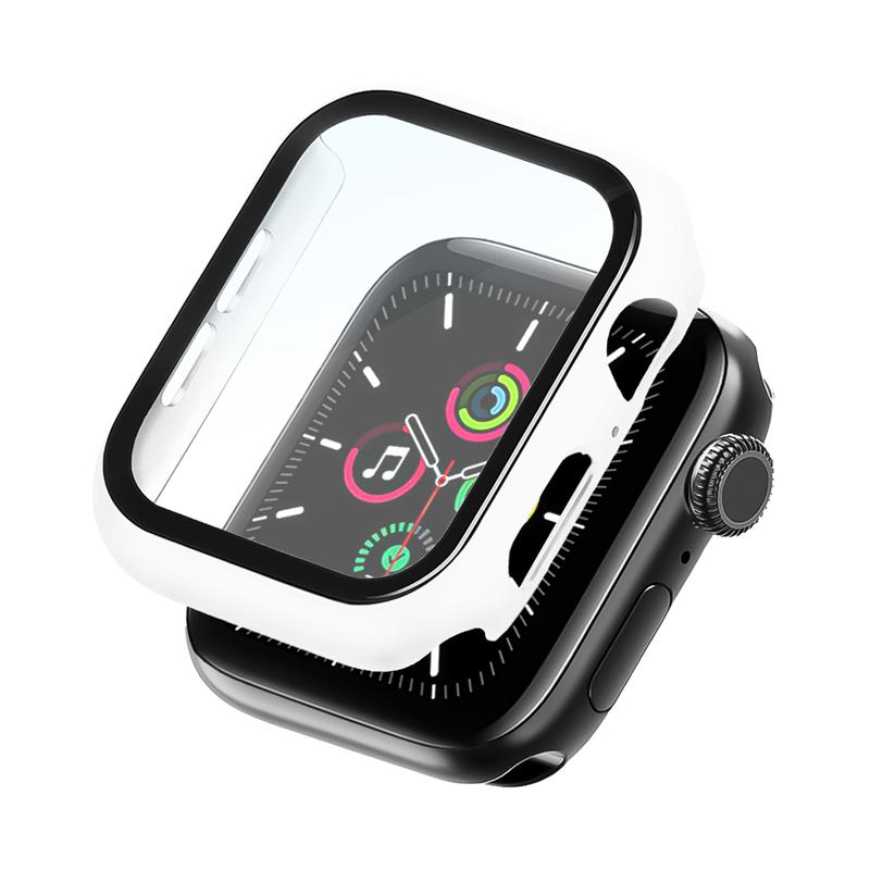 Bumper Case Com Película Branca para Apple Watch Series (1/2/3/4/5/6/SE) de Silicone