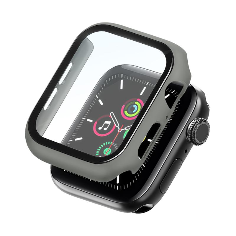 Bumper Case Com Película Cinza para Apple Watch Series (1/2/3/4/5/6/SE) de Silicone