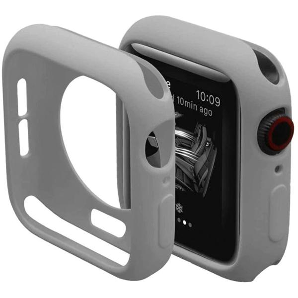 Bumper Case Cinza para Apple Watch Series (1/2/3/4/5/6/SE) de Silicone