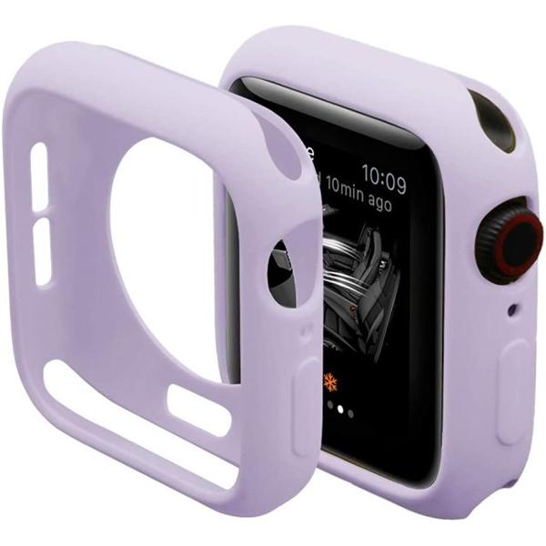 Bumper Case Lilás para Apple Watch Series (1/2/3/4/5/6/SE) de Silicone