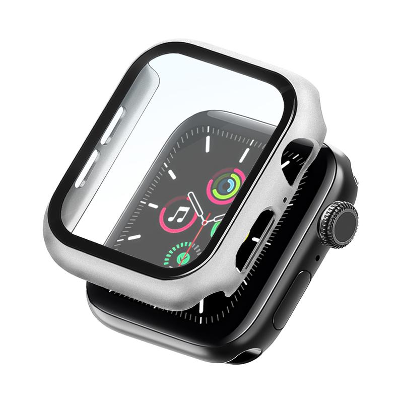 Bumper Case Com Película Prata para Apple Watch Series (1/2/3/4/5/6/SE) de Silicone
