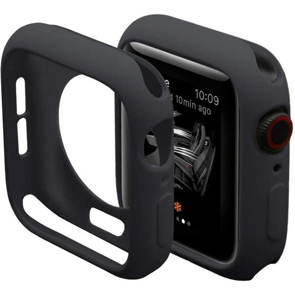 Bumper Case Preta para Apple Watch Series (1/2/3/4/5/6/SE) de Silicone