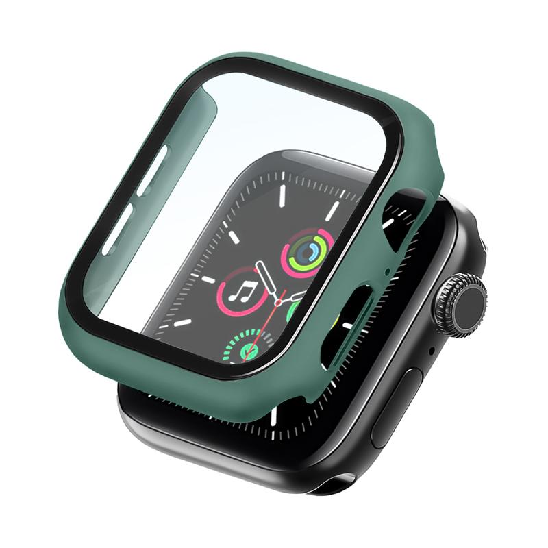 Bumper Case Com Película Verde Pacífico para Apple Watch Series (1/2/3/4/5/6/SE) de Silicone