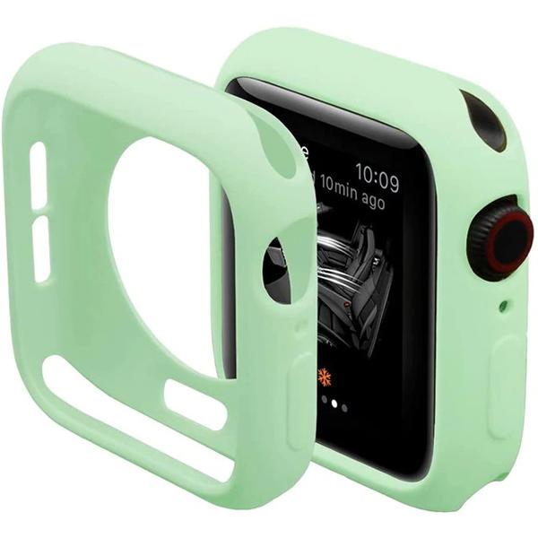 Bumper Case Verde Menta para Apple Watch Series (1/2/3/4/5/6/SE) de Silicone