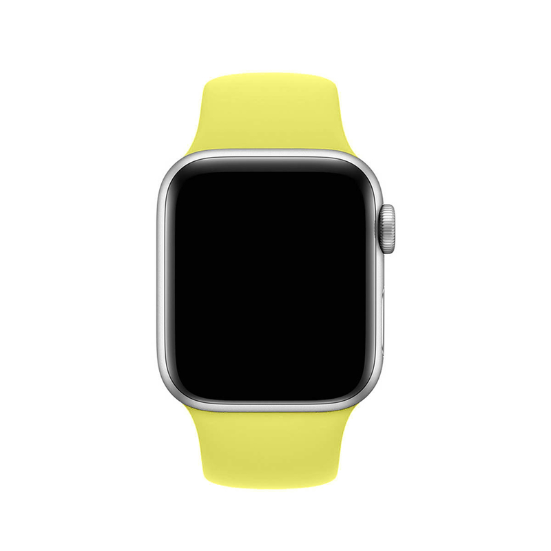 Pulseira Amarelo Limão para Apple Watch Serie (1/2/3/4/5/6/SE) de Silicone
