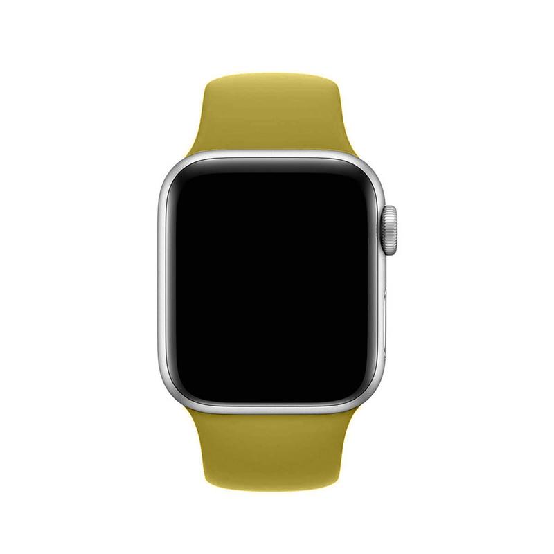 Pulseira Amarelo Mostarda para Apple Watch Serie (1/2/3/4/5/6/SE) de Silicone