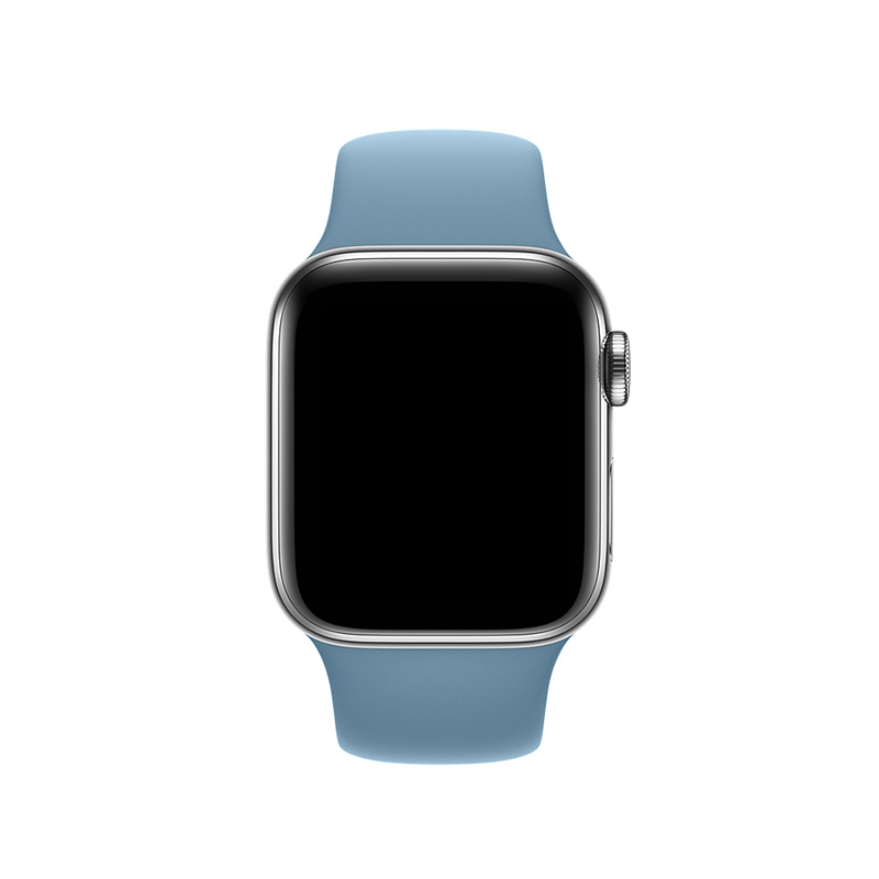 Pulseira Azul Caribe para Apple Watch Serie (1/2/3/4/5/6/SE) de Silicone
