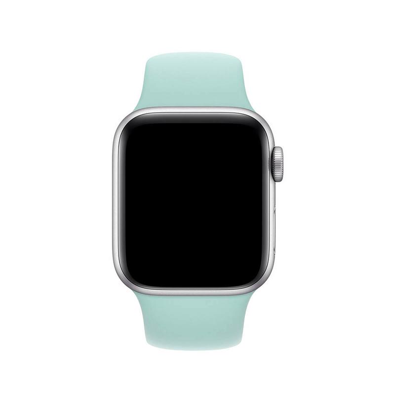 Pulseira Azul Céu para Apple Watch Serie (1/2/3/4/5/6/SE) de Silicone