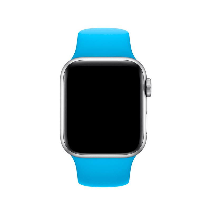 Pulseira Azul Piscina para Apple Watch Serie (1/2/3/4/5/6/SE) de Silicone