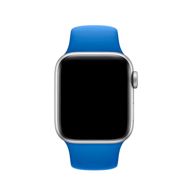 Pulseira Azul Royal para Apple Watch Serie (1/2/3/4/5/6/SE) de Silicone