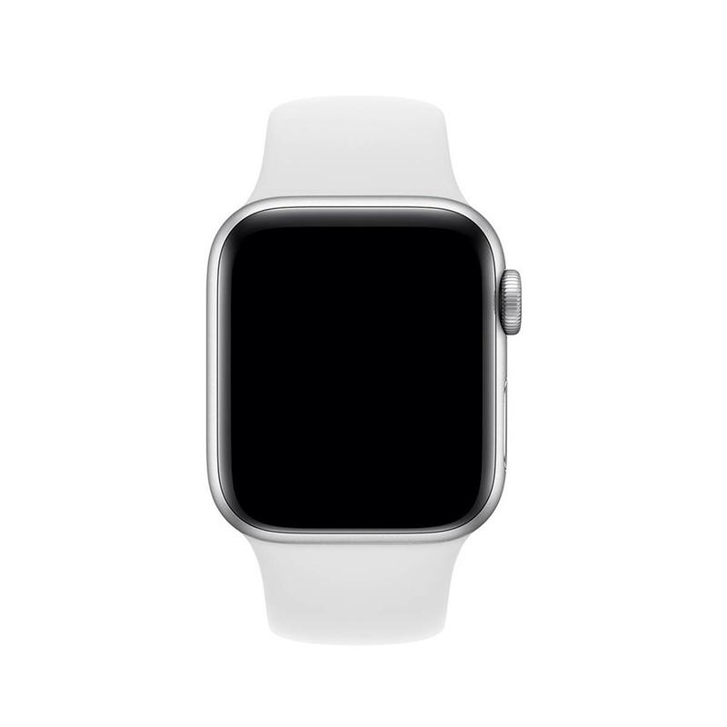Pulseira Branca para Apple Watch Serie (1/2/3/4/5/6/SE) de Silicone