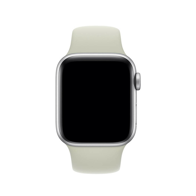 Pulseira Branco Off-White para Apple Watch Serie (1/2/3/4/5/6/SE) de Silicone
