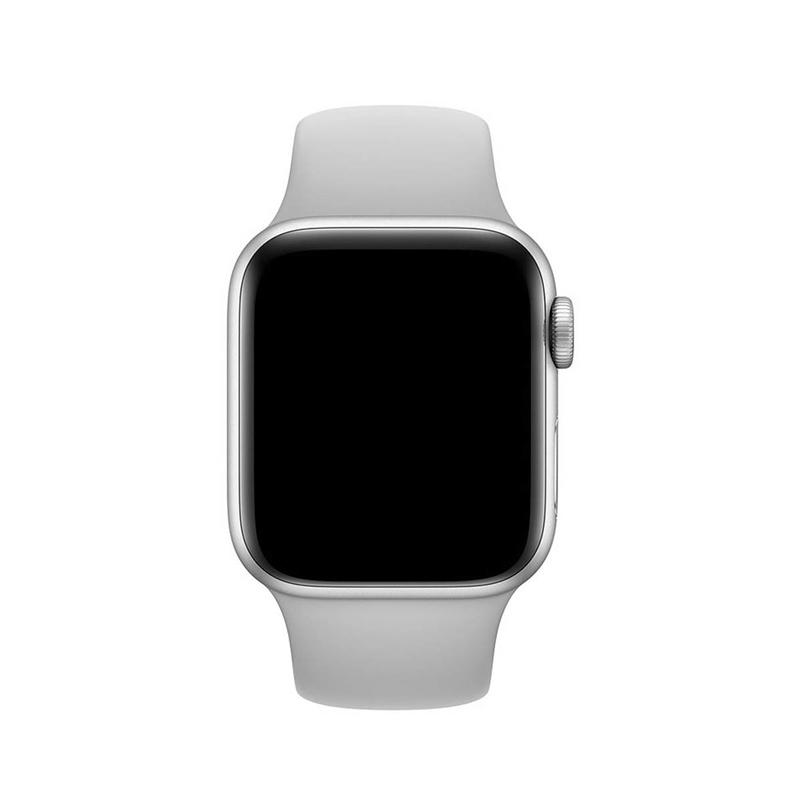Pulseira Cinza para Apple Watch Serie (1/2/3/4/5/6/SE) de Silicone