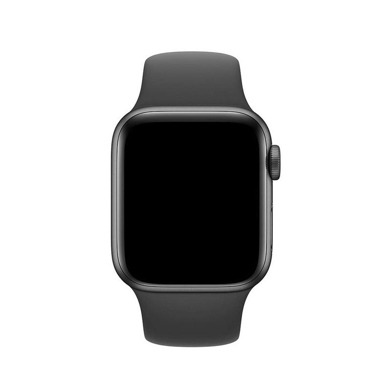 Pulseira Cinza Escuro para Apple Watch Serie (1/2/3/4/5/6/SE) de Silicone