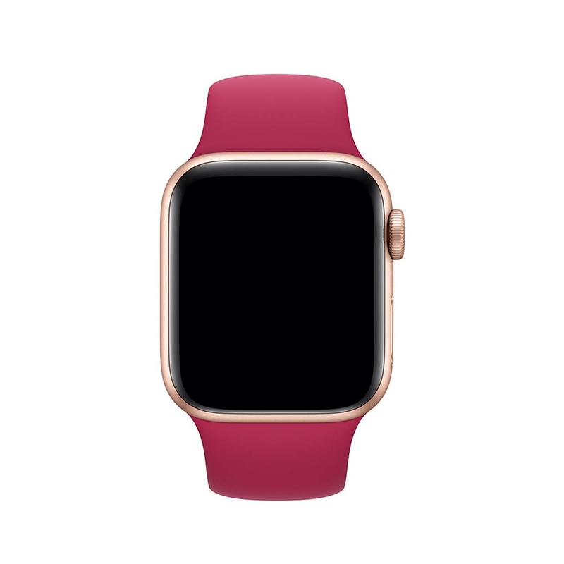 Pulseira Rosa Hibisco para Apple Watch Serie (1/2/3/4/5/6/SE) de Silicone