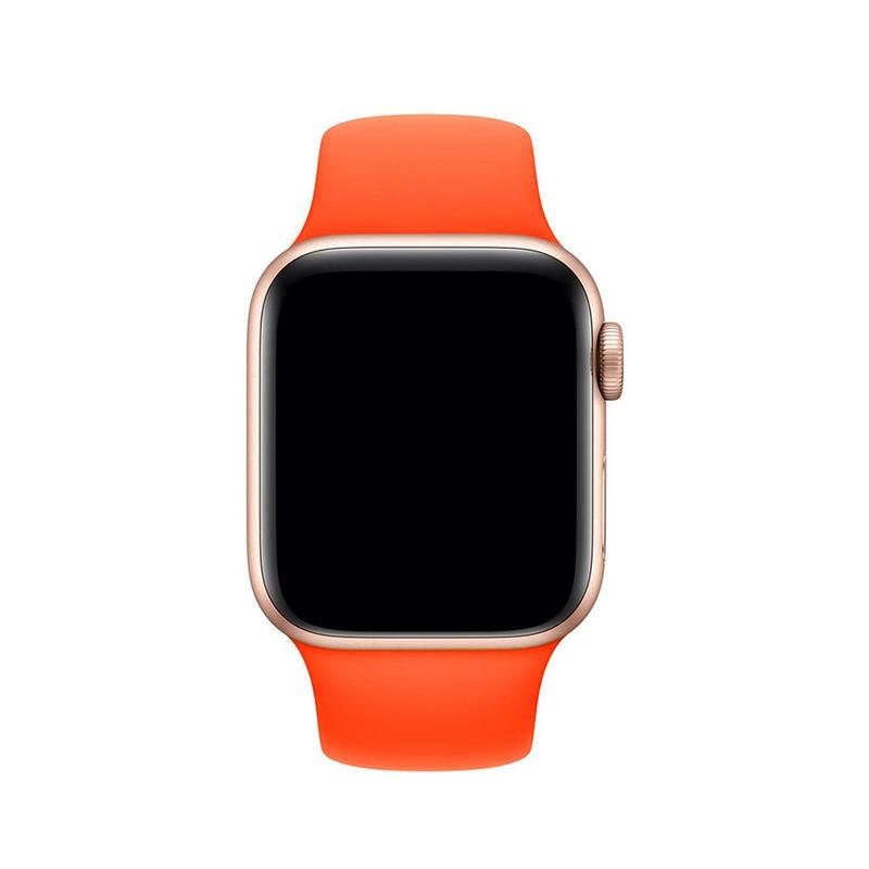 Pulseira Laranja para Apple Watch Serie (1/2/3/4/5/6/SE) de Silicone