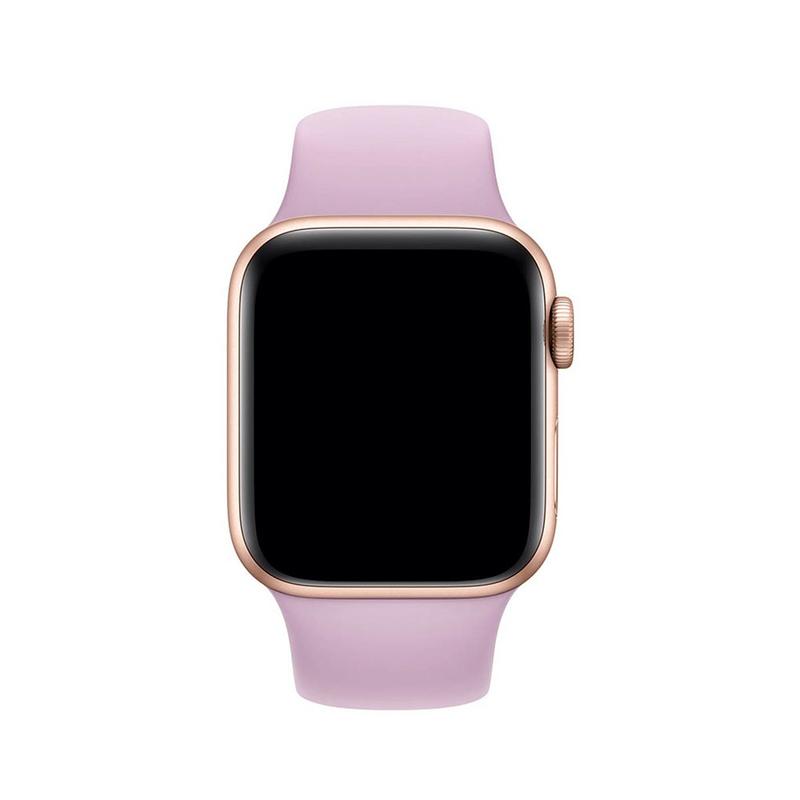 Pulseira Lilás para Apple Watch Serie (1/2/3/4/5/6/SE) de Silicone