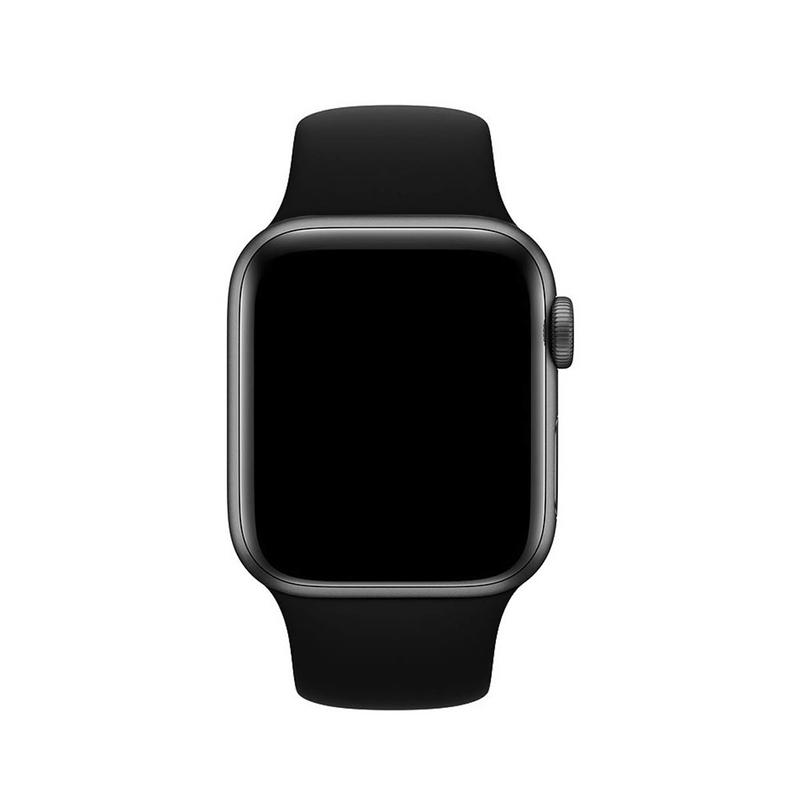 Pulseira Preta para Apple Watch Serie (1/2/3/4/5/6/SE) de Silicone