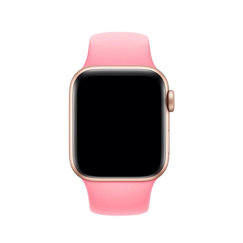Pulseira Rosa para Apple Watch Serie (1/2/3/4/5/6/SE) de Silicone