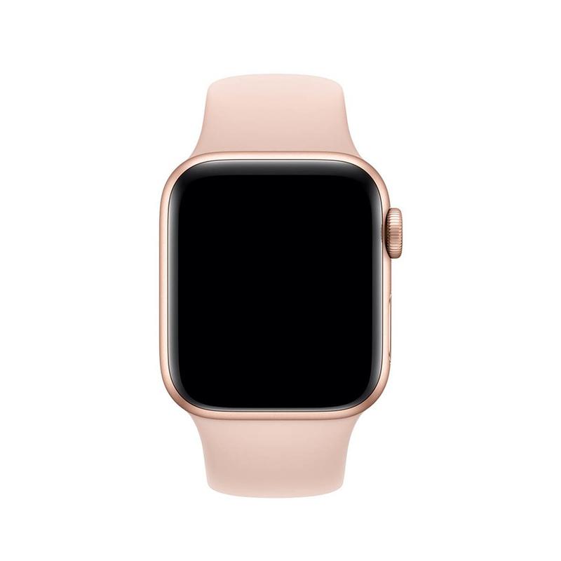 Pulseira Rosa Areia para Apple Watch Serie (1/2/3/4/5/6/SE) de Silicone