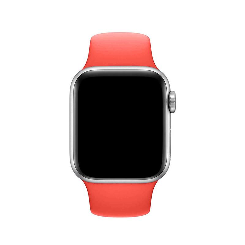 Pulseira Rosa Neon para Apple Watch Serie (1/2/3/4/5/6/SE) de Silicone
