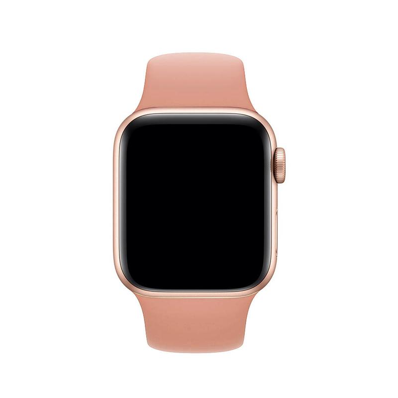 Pulseira Rosa Pêssego para Apple Watch Serie (1/2/3/4/5/6/SE) de Silicone