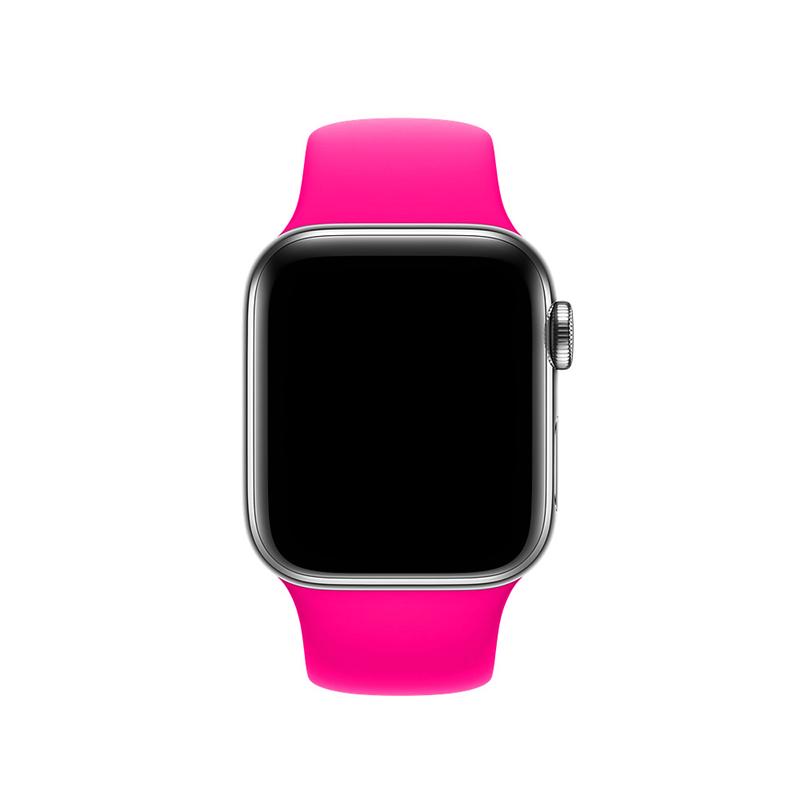 Pulseira Rosa Pink para Apple Watch Serie (1/2/3/4/5/6/SE) de Silicone