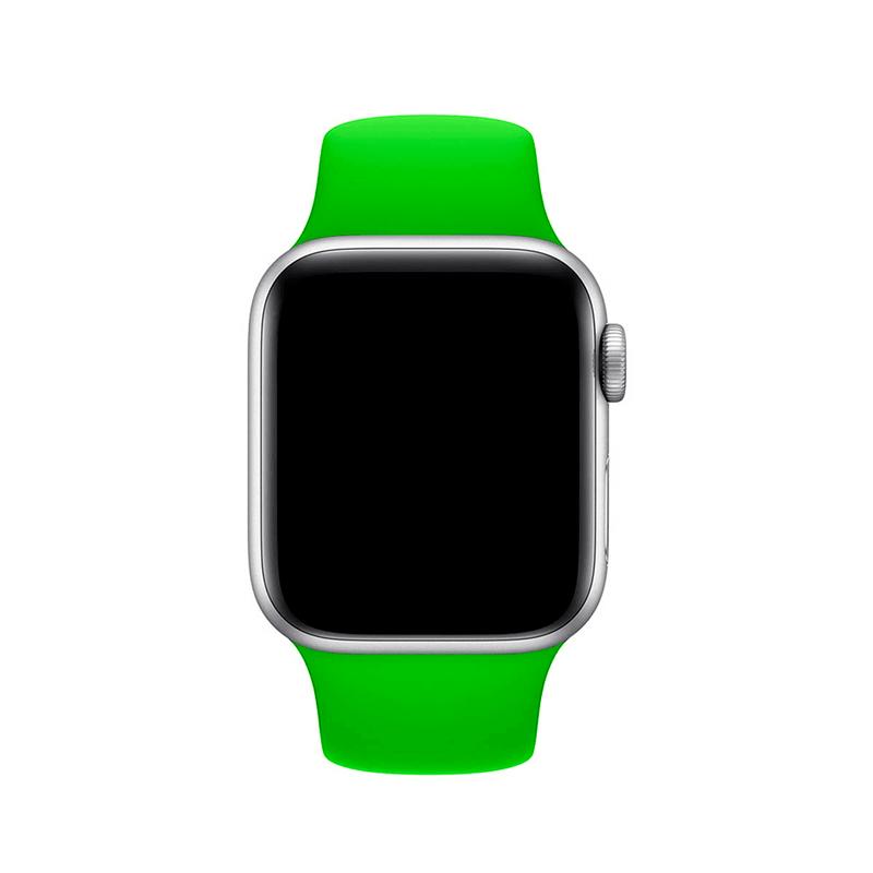 Pulseira Verde para Apple Watch Serie (1/2/3/4/5/6/SE) de Silicone
