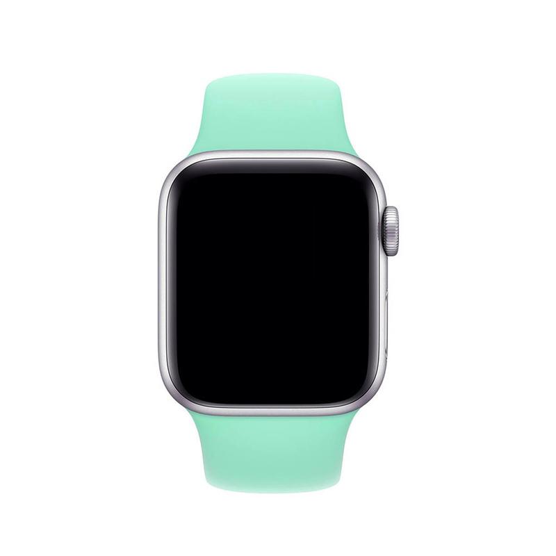 Pulseira Verde Água para Apple Watch Serie (1/2/3/4/5/6/SE) de Silicone