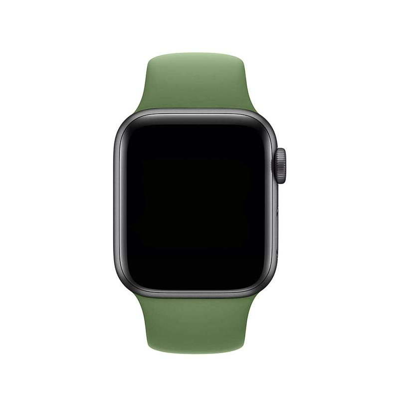 Pulseira Verde Bandeira para Apple Watch Serie (1/2/3/4/5/6/SE) de Silicone