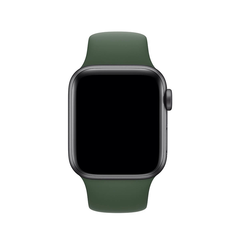 Pulseira Verde Floresta para Apple Watch Serie (1/2/3/4/5/6/SE) de Silicone