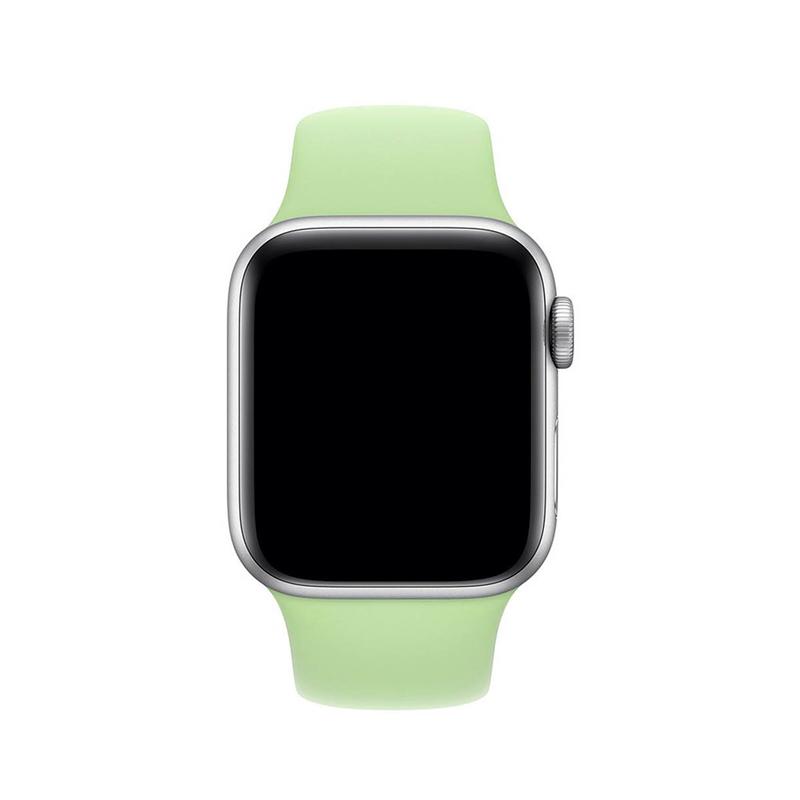Pulseira Verde Menta para Apple Watch Serie (1/2/3/4/5/6/SE) de Silicone