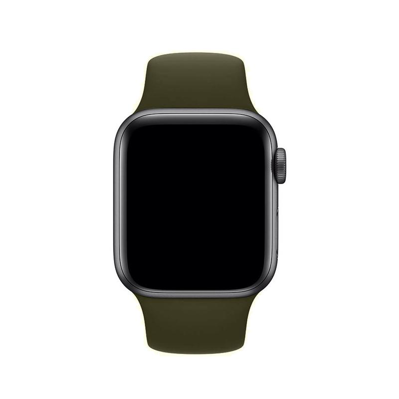 Pulseira Verde Militar para Apple Watch Serie (1/2/3/4/5/6/SE) de Silicone