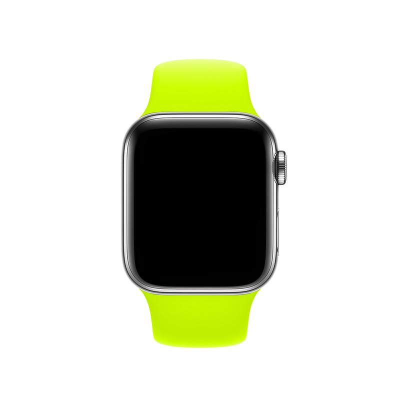 Pulseira Verde Neon para Apple Watch Serie (1/2/3/4/5/6/SE) de Silicone