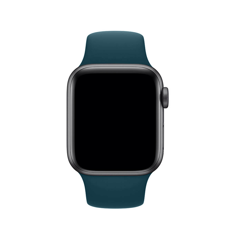 Pulseira Verde Pacífico para Apple Watch Serie (1/2/3/4/5/6/SE) de Silicone