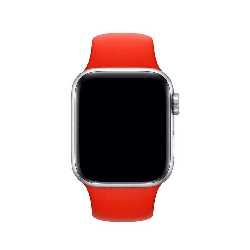 Pulseira Vermelha para Apple Watch Serie (1/2/3/4/5/6/SE) de Silicone