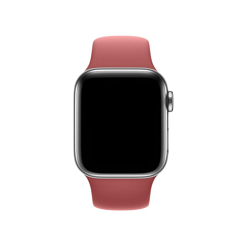 Pulseira Vermelho Claro para Apple Watch Serie (1/2/3/4/5/6/SE) de Silicone