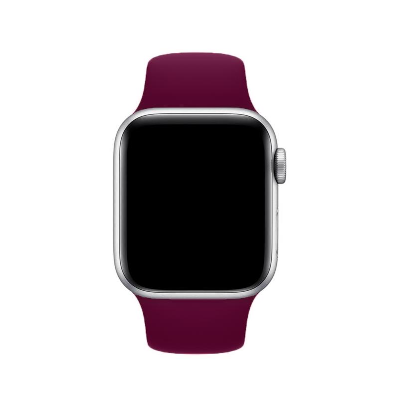 Pulseira Vermelho Escuro para Apple Watch Serie (1/2/3/4/5/6/SE) de Silicone