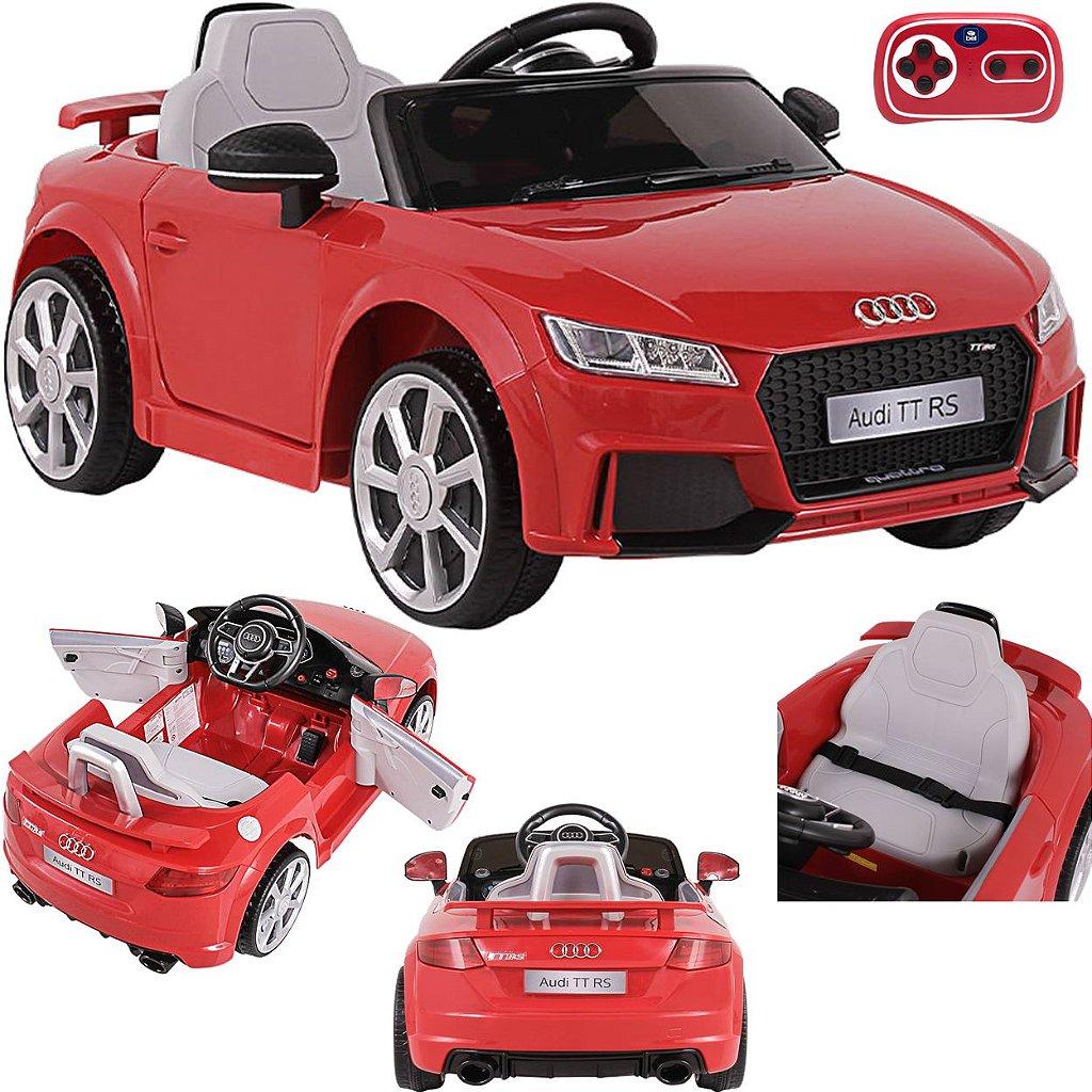 Carrinho Eletrico Bel Audi Tt Rs 12v Controle Remoto Vermelho Maca Verde Baby