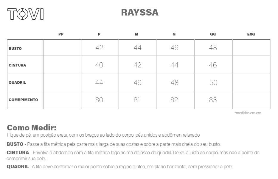 Tabela de Medidas Rayssa