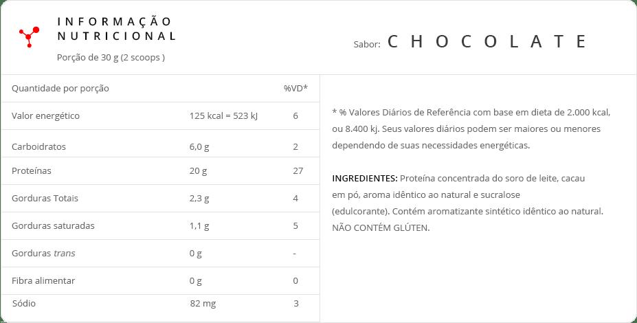 super whey 100 integralmedica Informações Nutricionais