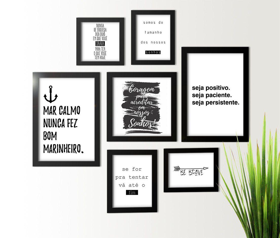 Kit 7 Quadros Com Frases Motivacionais Layke Com Br