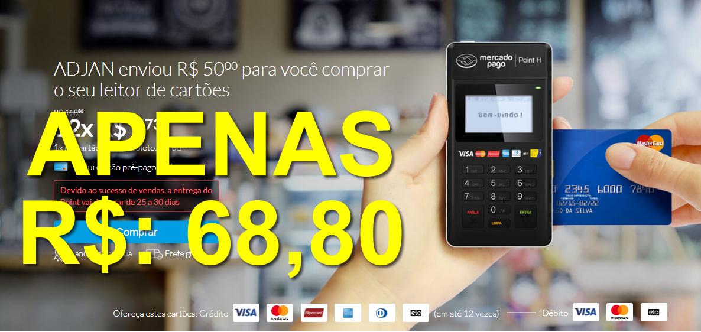 a88465eadb05 Point R$ 68,80 - Frete Grátis - Maquininha de Cartão Mercado Pago ...