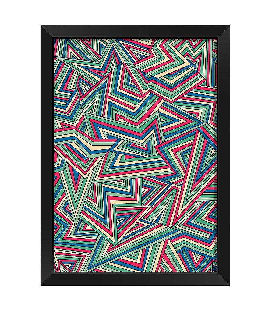 Quadro Abstrato Tricolor Kolor Impress O Digital Pap Is De