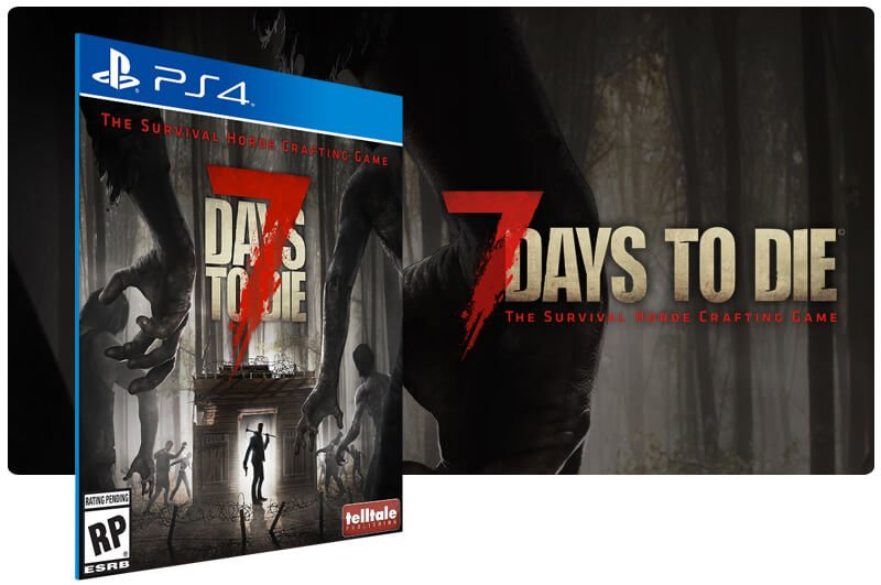 Banner do game 7 Days To Die em mídia digital para PS4