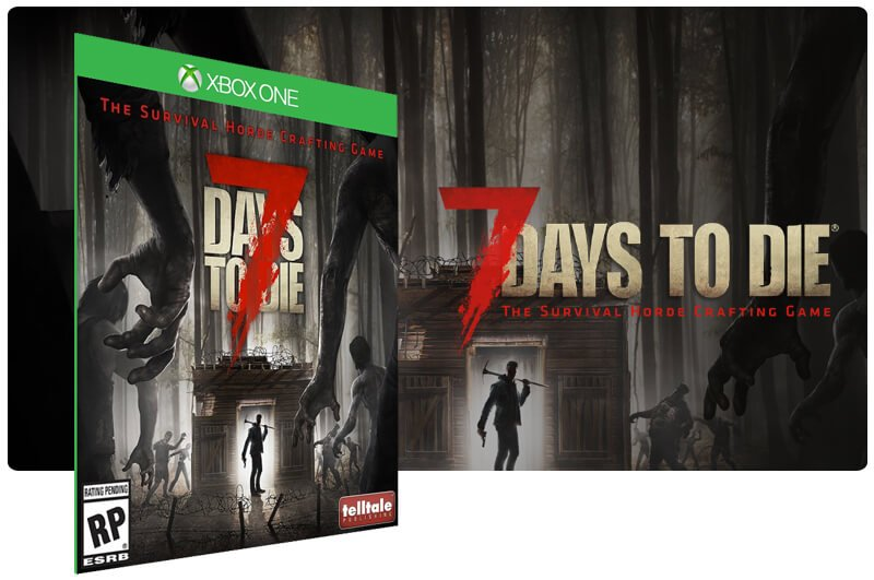 Banner do game 7 Days To Die em mídia digital para Xbox One