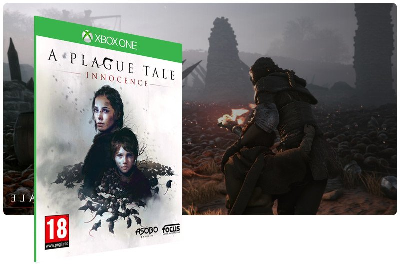 Banner do game A Plague Tale: Innocence em mídia digital para Xbox One
