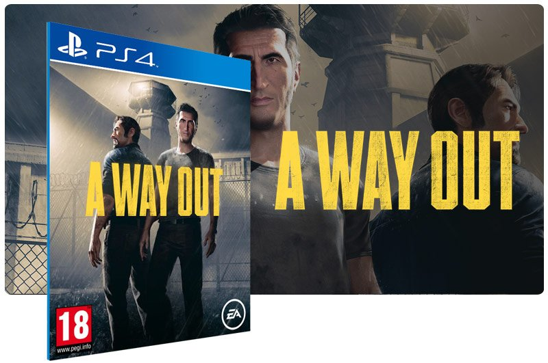 Banner do game A Way Out em mídia digital para PS4