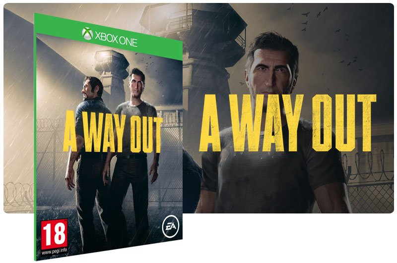 Banner do game A Way Out em mídia digital para Xbox One