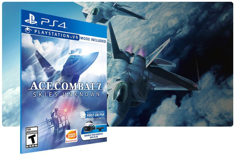 Banner do game ACE COMBAT 7 SKIES UNKNOWN para PS4